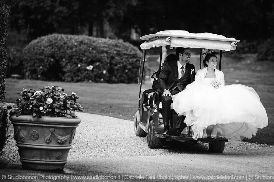 Wedding with Golf Car Hotel Four Seasons Firenze