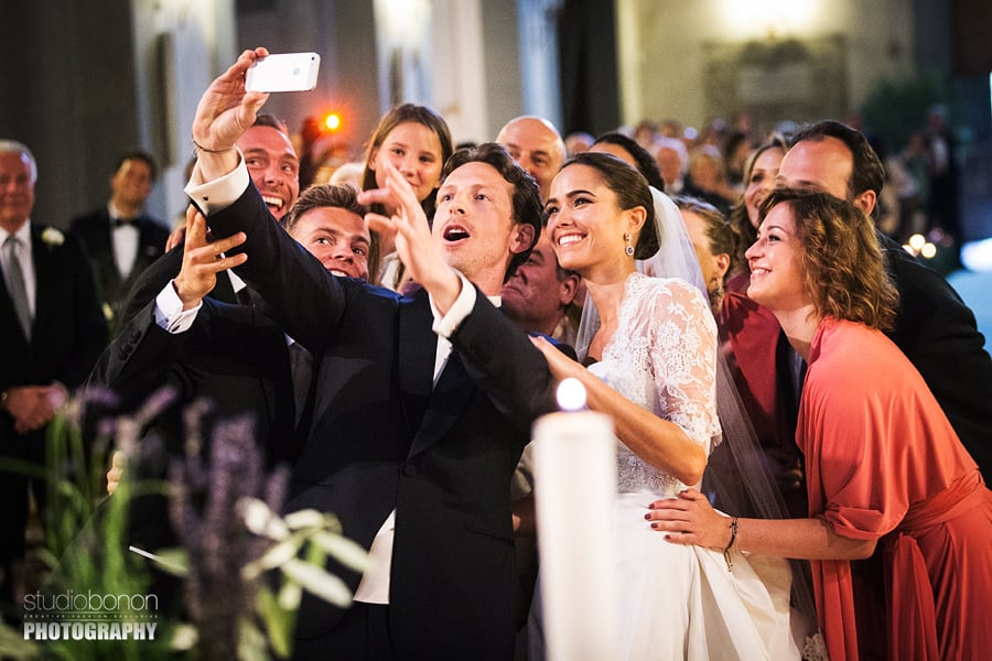 063-Selfie in the Church Wedding in Florence