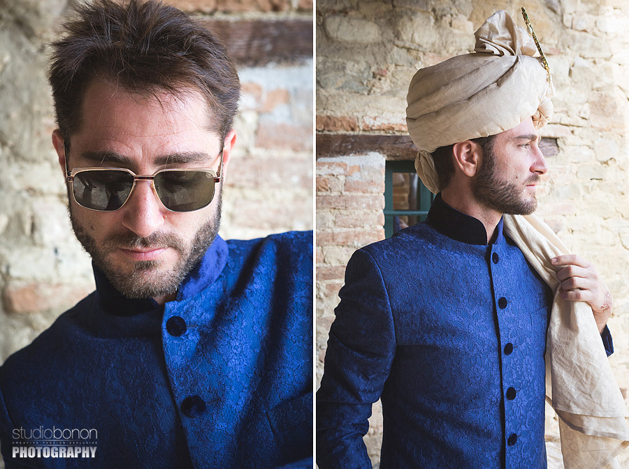 022-sherwani-groom-getting-ready-turban-indian-wedding-in-umbria