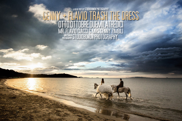 Trash the Dress with horses by Genny & Flavio!