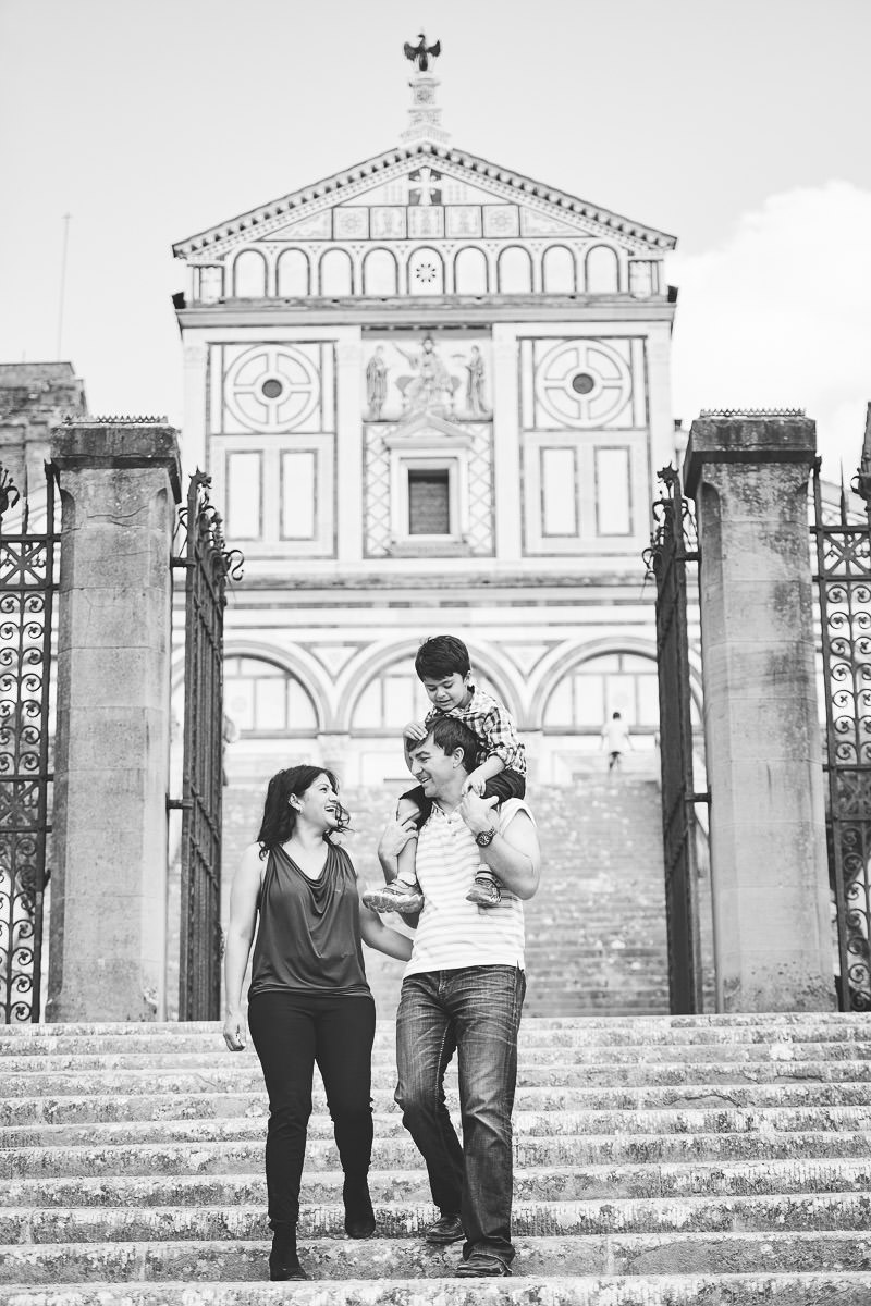 Family photo shoot in Florence at San Miniato al Monte