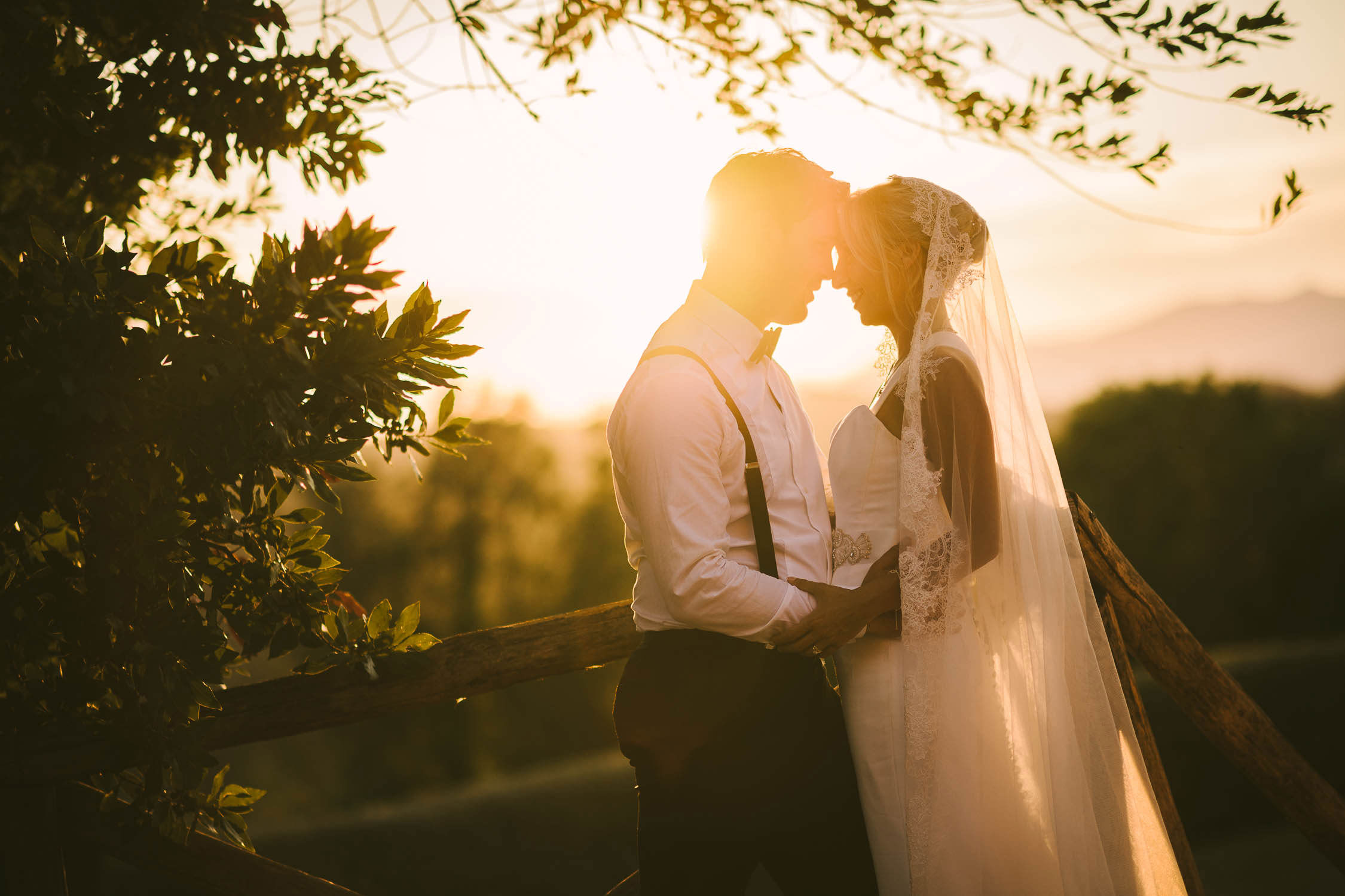 Couple portrait at Borgo di Colleoli during golden hour