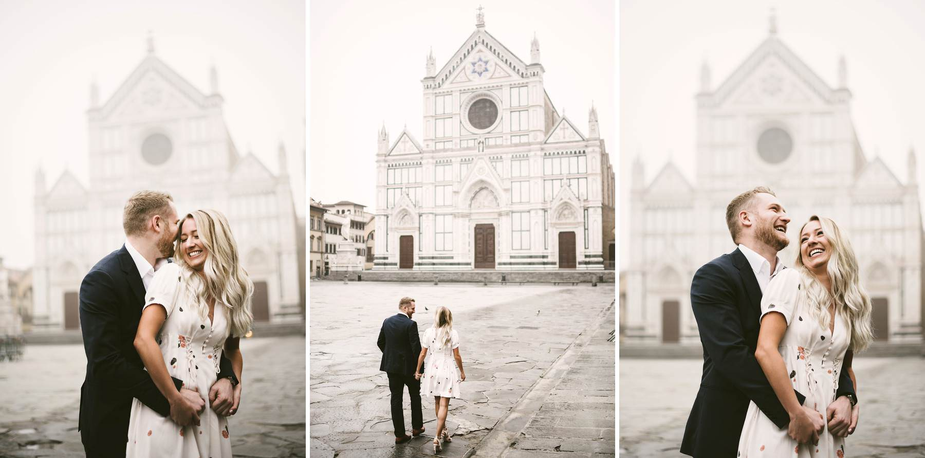 Have Florence at your feet with sunrise engagement photos