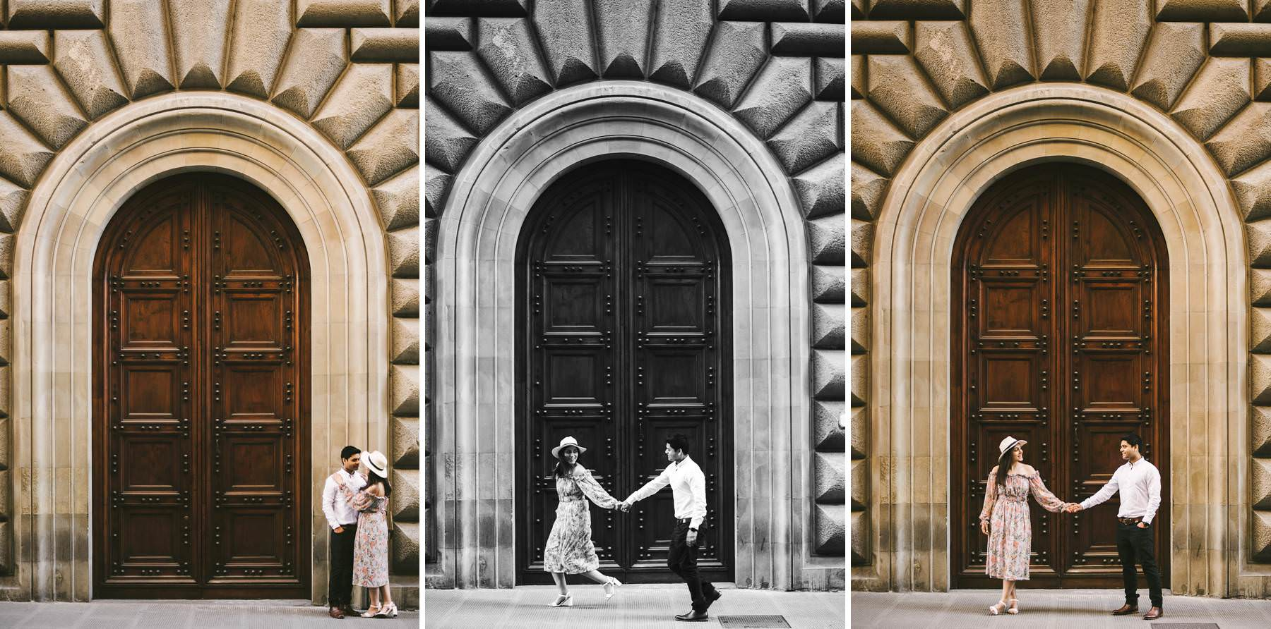 Florence early morning vacation engagement photo shoot