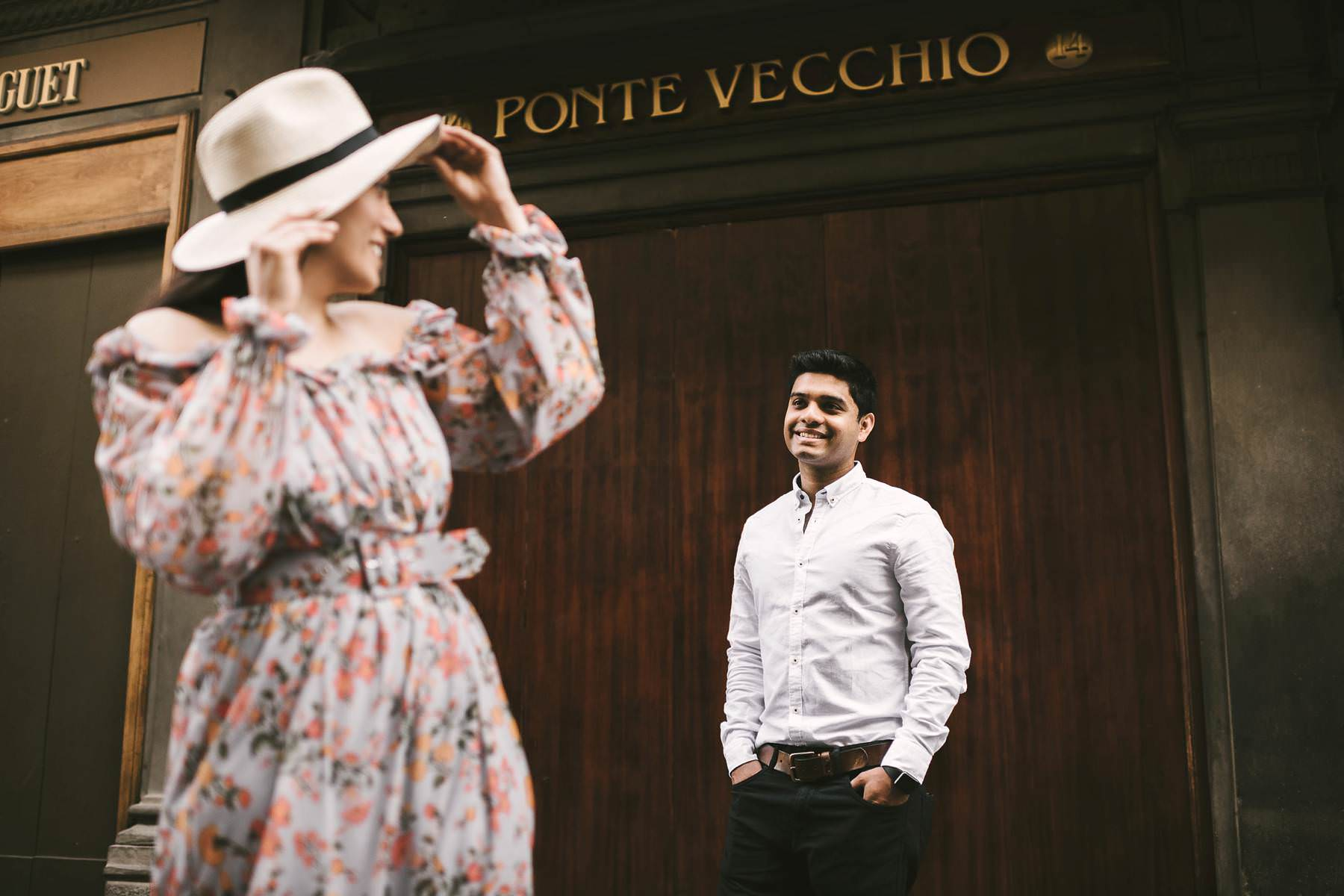 Florence early morning elegant engagement life style photo shoot