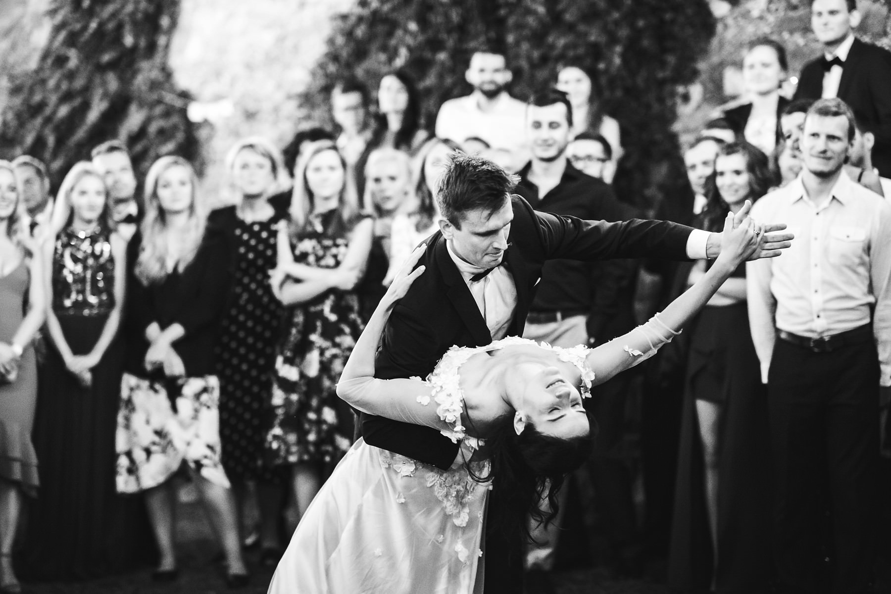 Bride and groom first dance at Montelucci country Resort