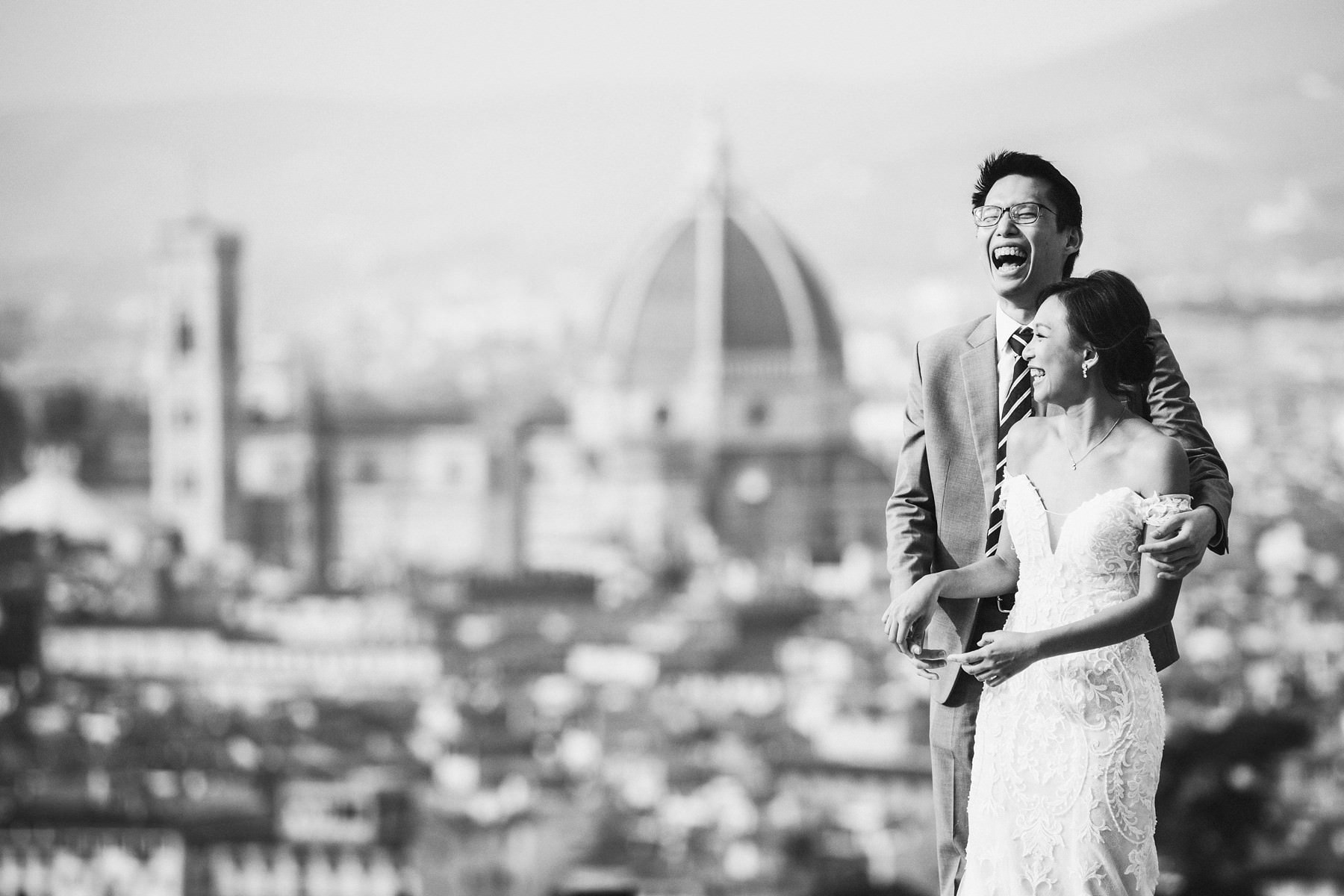 Florence exciting honeymoon couple portrait session