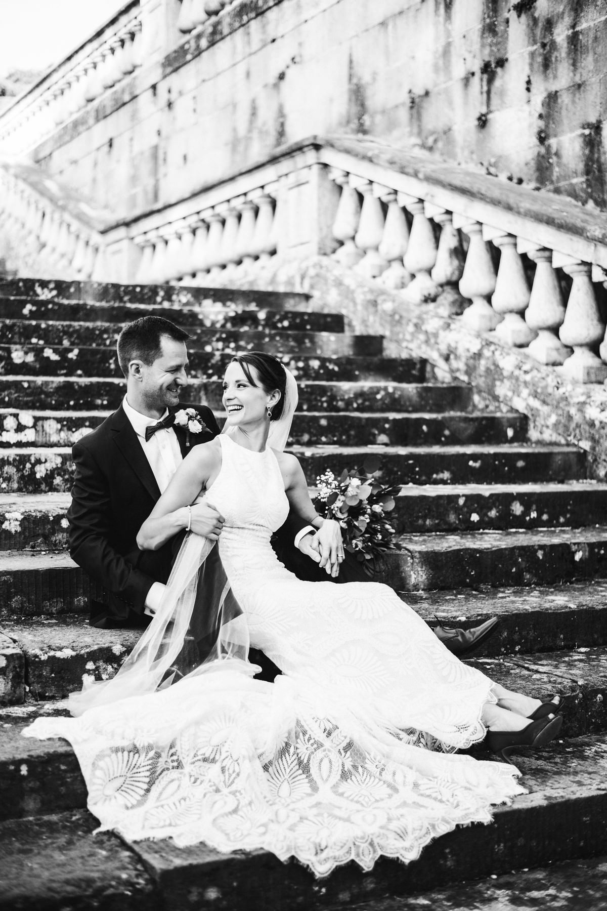 Bride and groom photo in Florence