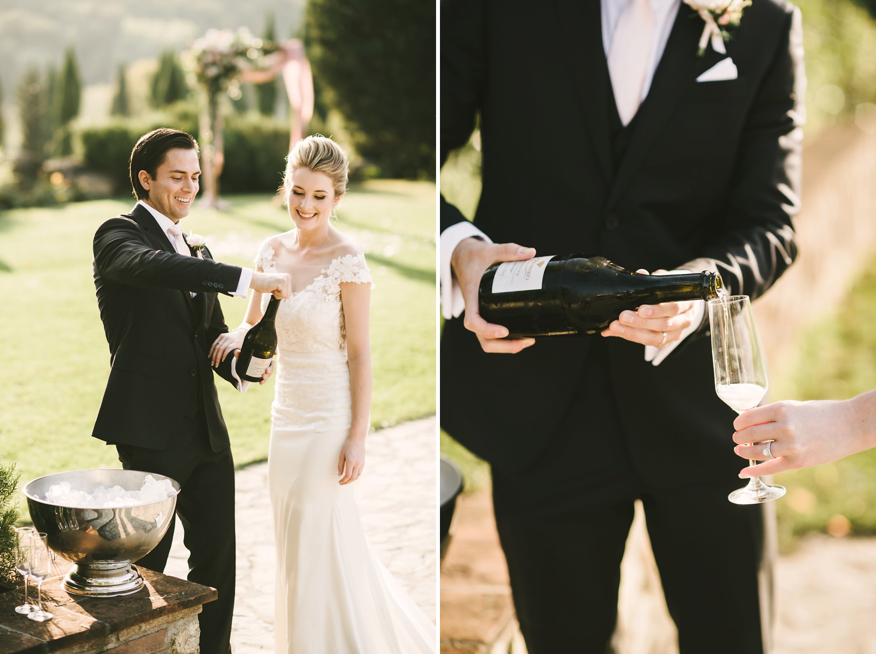 Just married! Celebrate the love with a bottle of good champagne wine