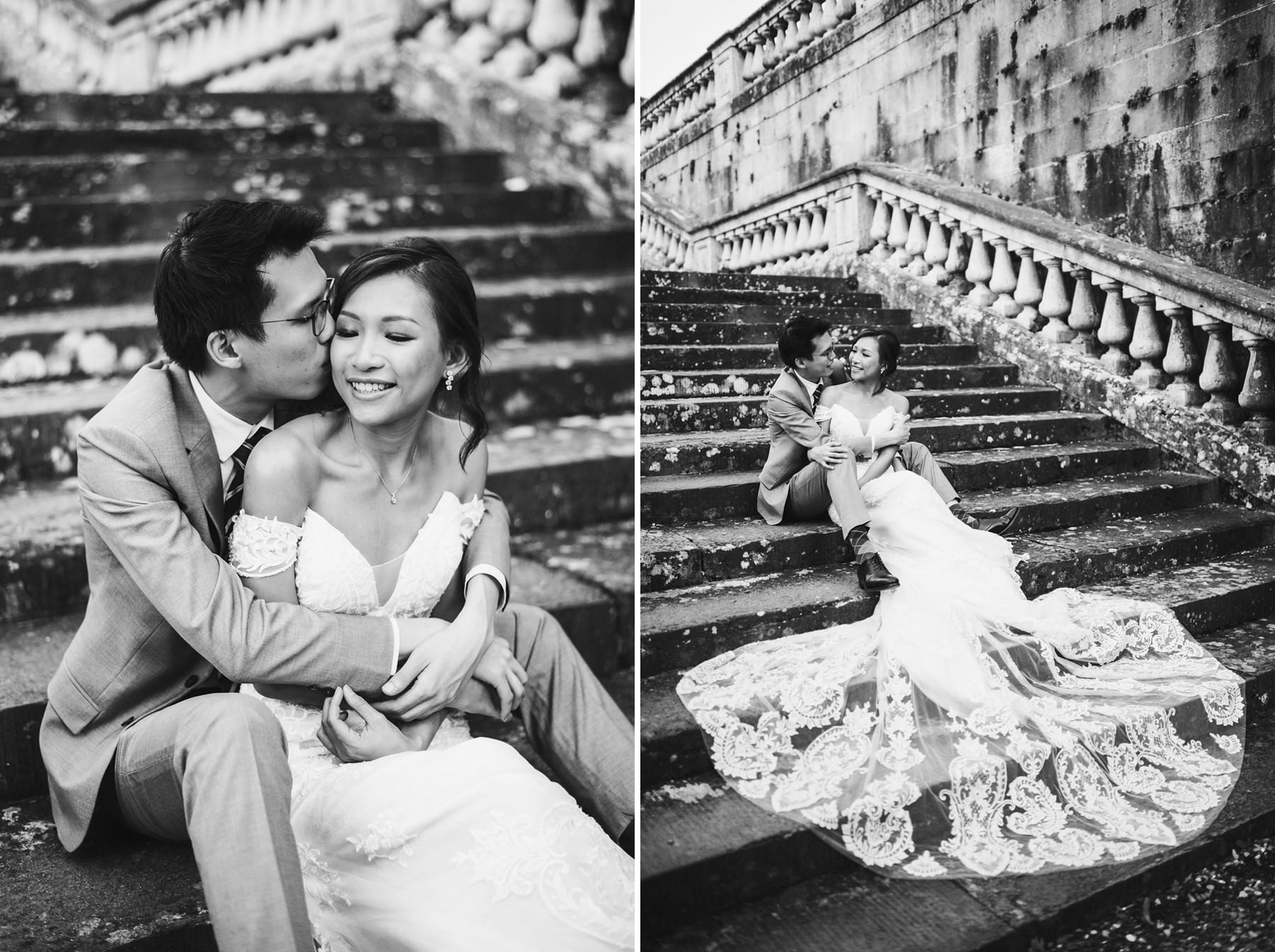 Romantic engagement portrait pre wedding photo shoot in Florence
