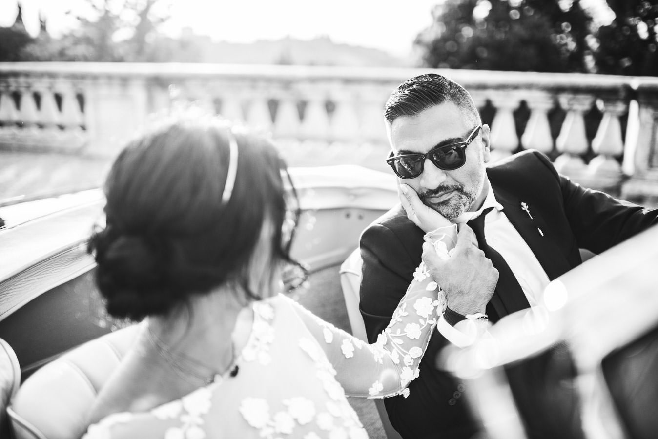 Bride and groom wedding elopement photo in Florence