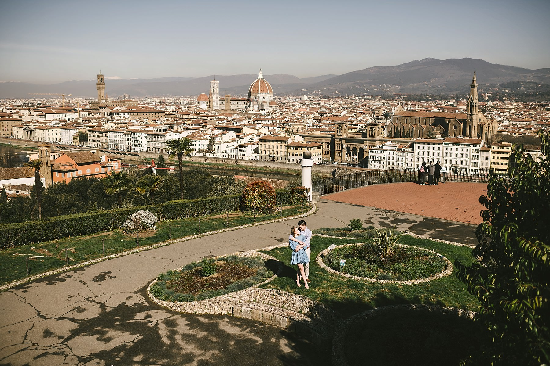 Unforgettable panoramic early morning sunrise photo shoot in Florence at Piazzale Michelangelo