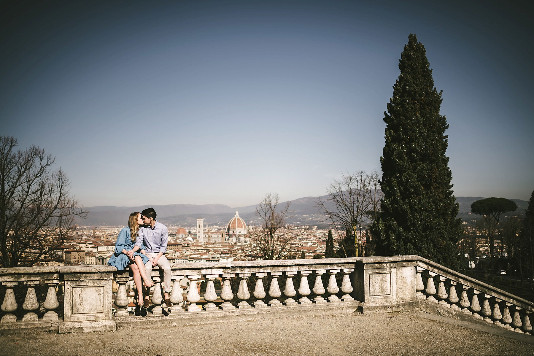 Unforgettable panoramic early morning sunrise photo shoot in Florence at San Miniato al Monte