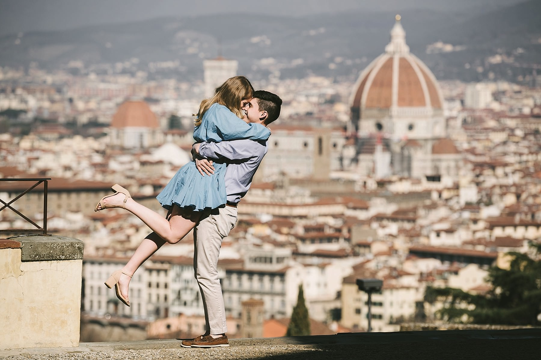 Unforgettable and exciting early morning sunrise photo shoot in Florence at San Miniato al Monte
