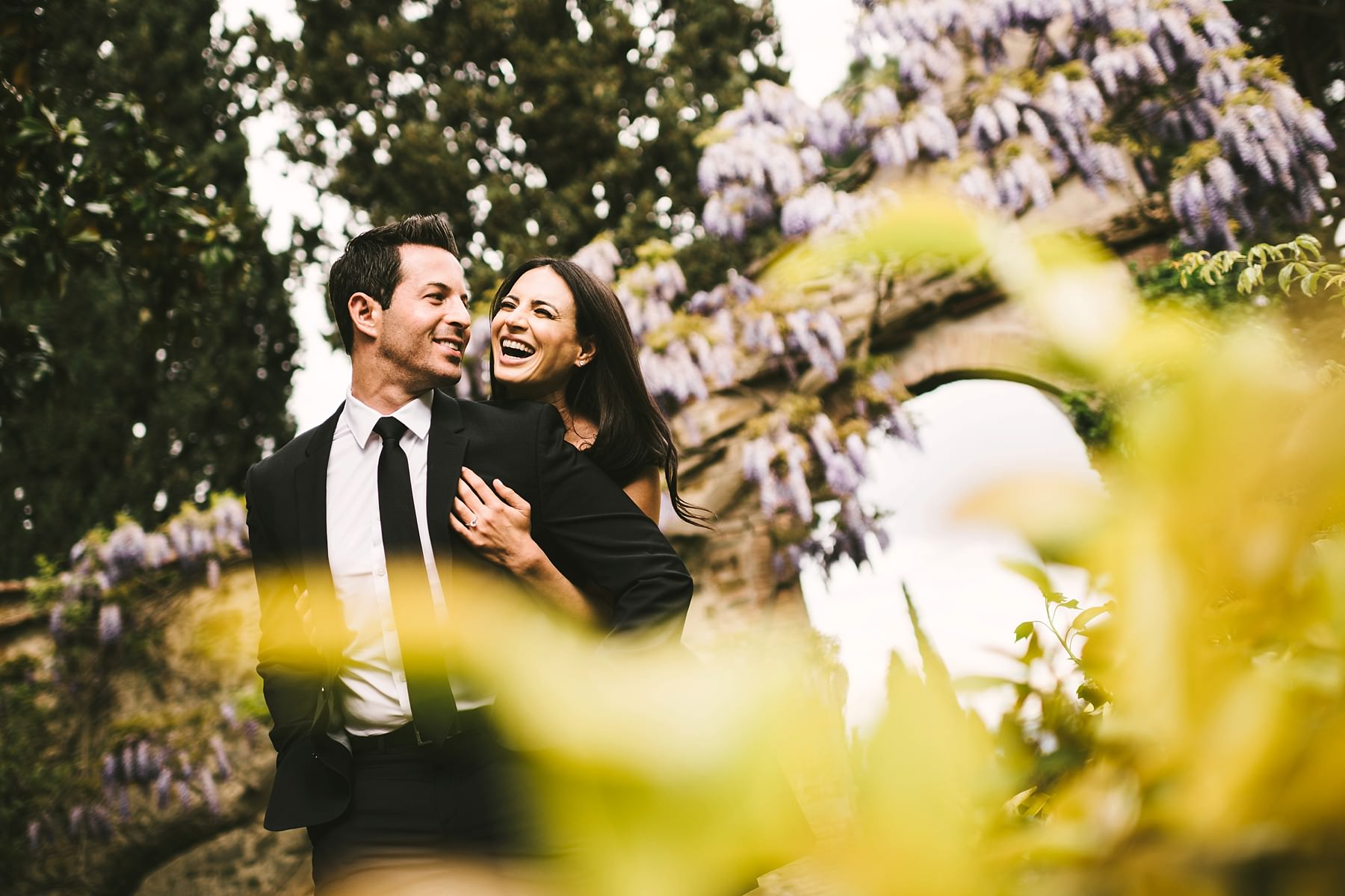 Romantic couple portrait engagement pre-wedding photo shoot at the historical residence of Torre Bellosguardo. Your love deserves to be celebrated
