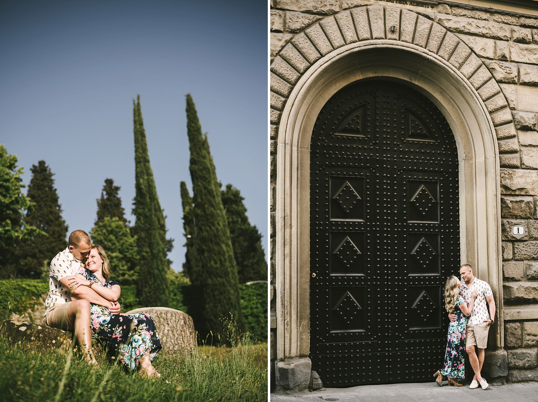 Enjoy your vacation and commemorate a magic moment with an engagement photo session in Florence