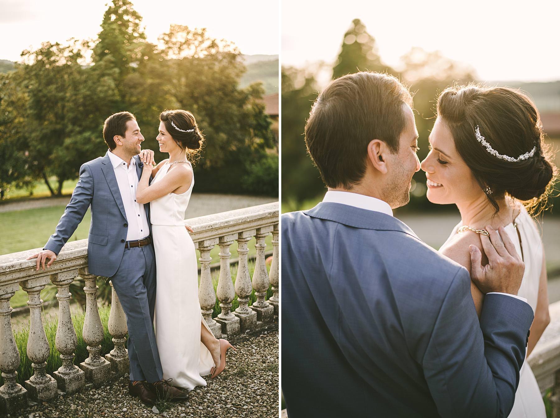Editorial pre wedding couple portrait photo shoot in Tuscany at Villa La Selva Wine Resort