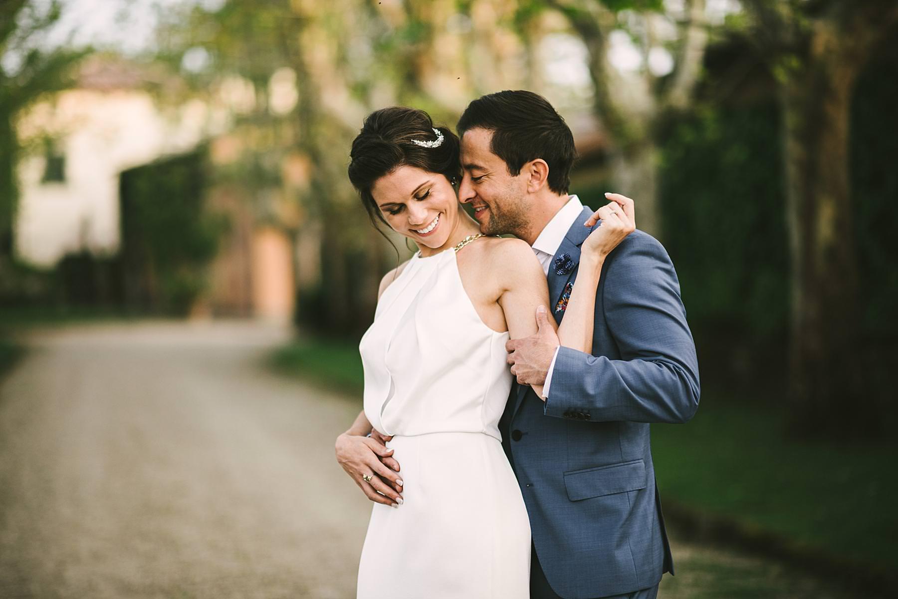 Lovely pre wedding couple portrait photo session in Tuscany at Villa La Selva Wine Resort