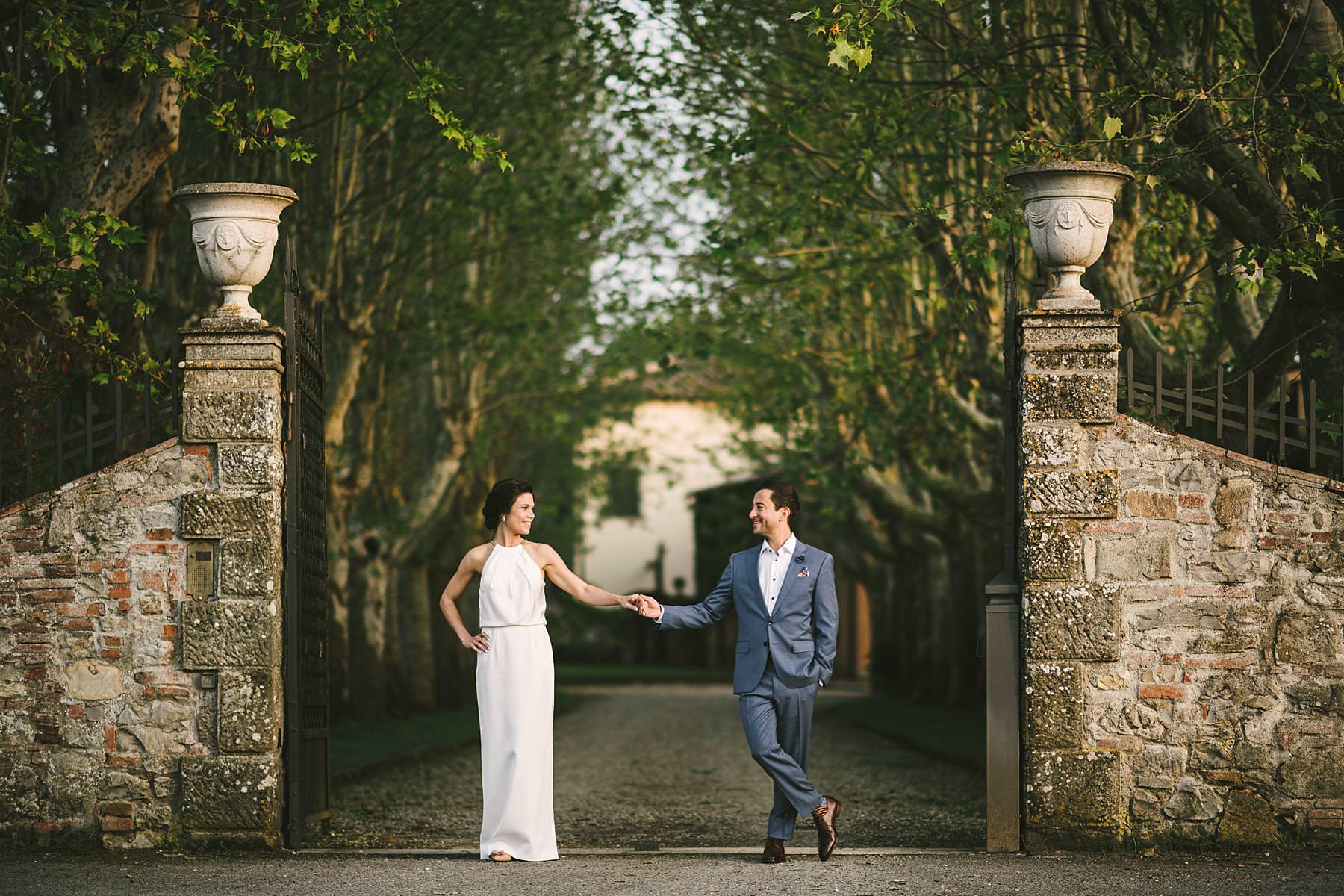 Dolce Vita style destination wedding in Tuscany at historic estate of Villa La Selva Wine Resort