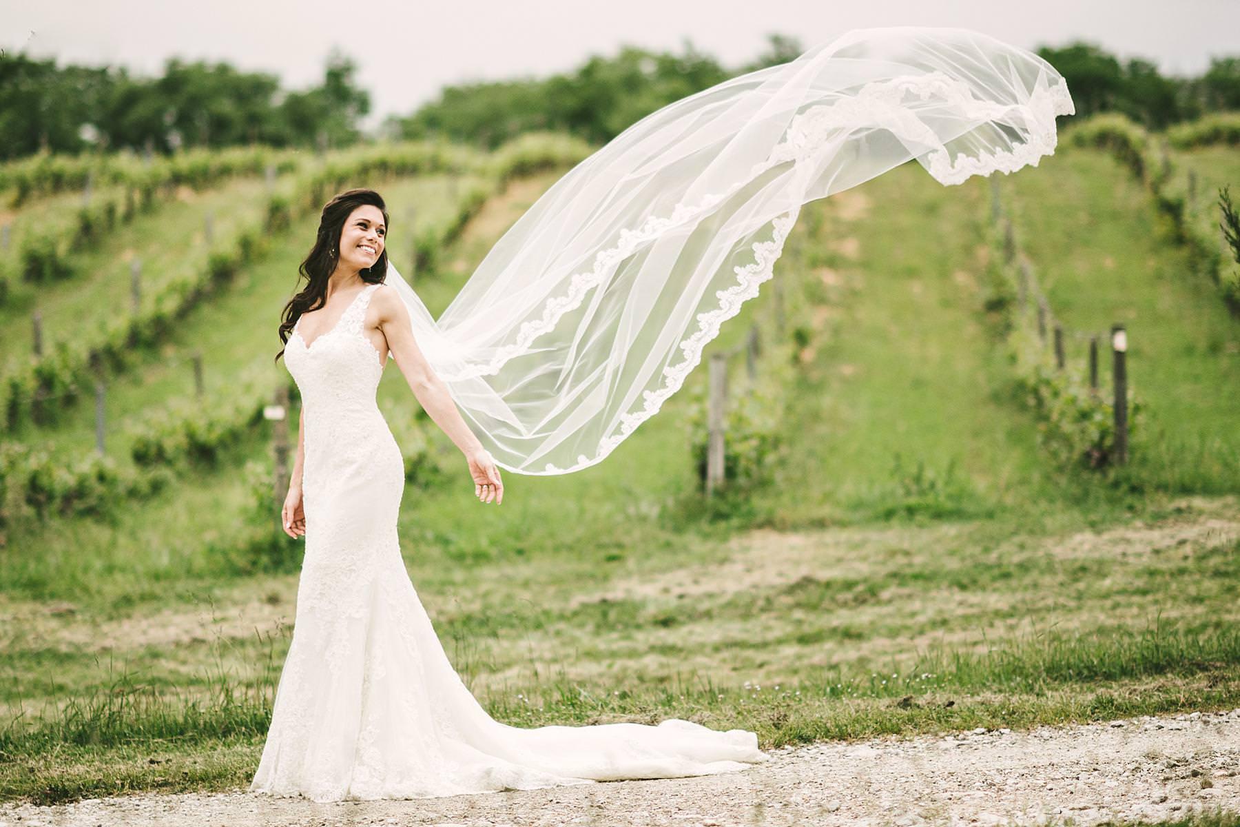 Another beautiful bride wedding photo in Pronovias gown at Villa La Selva