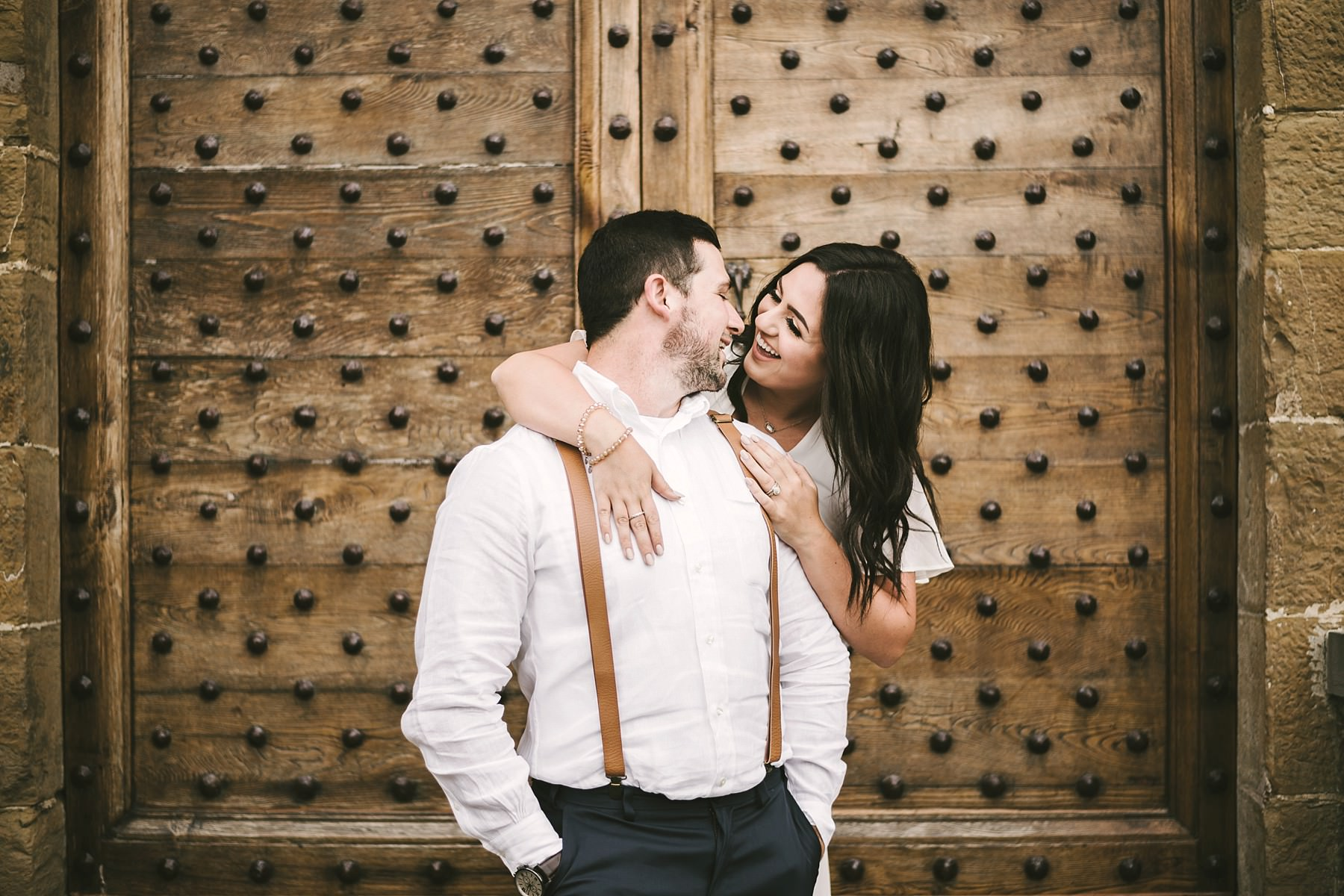 Exciting couple portrait elopement wedding photo session in Florence