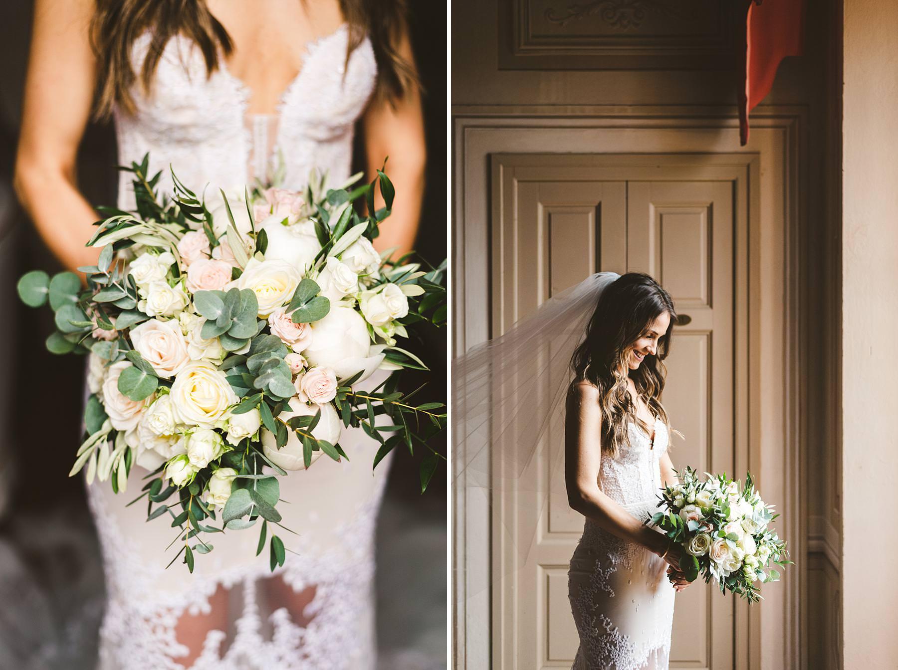 Beautiful bride portrait at Villa Il Poggiale, a stunning venue in the heart of Chianti
