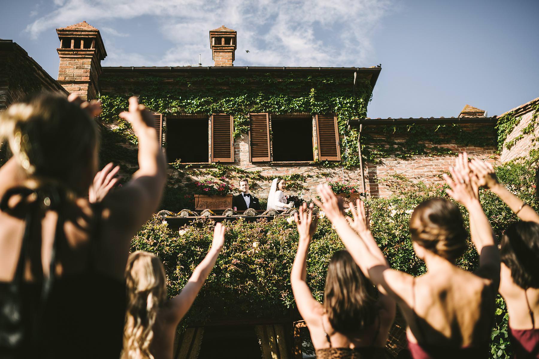 Exciting fun and elegant intimate destination wedding in Umbria at historic incredible venue Villa l'Antica Posta