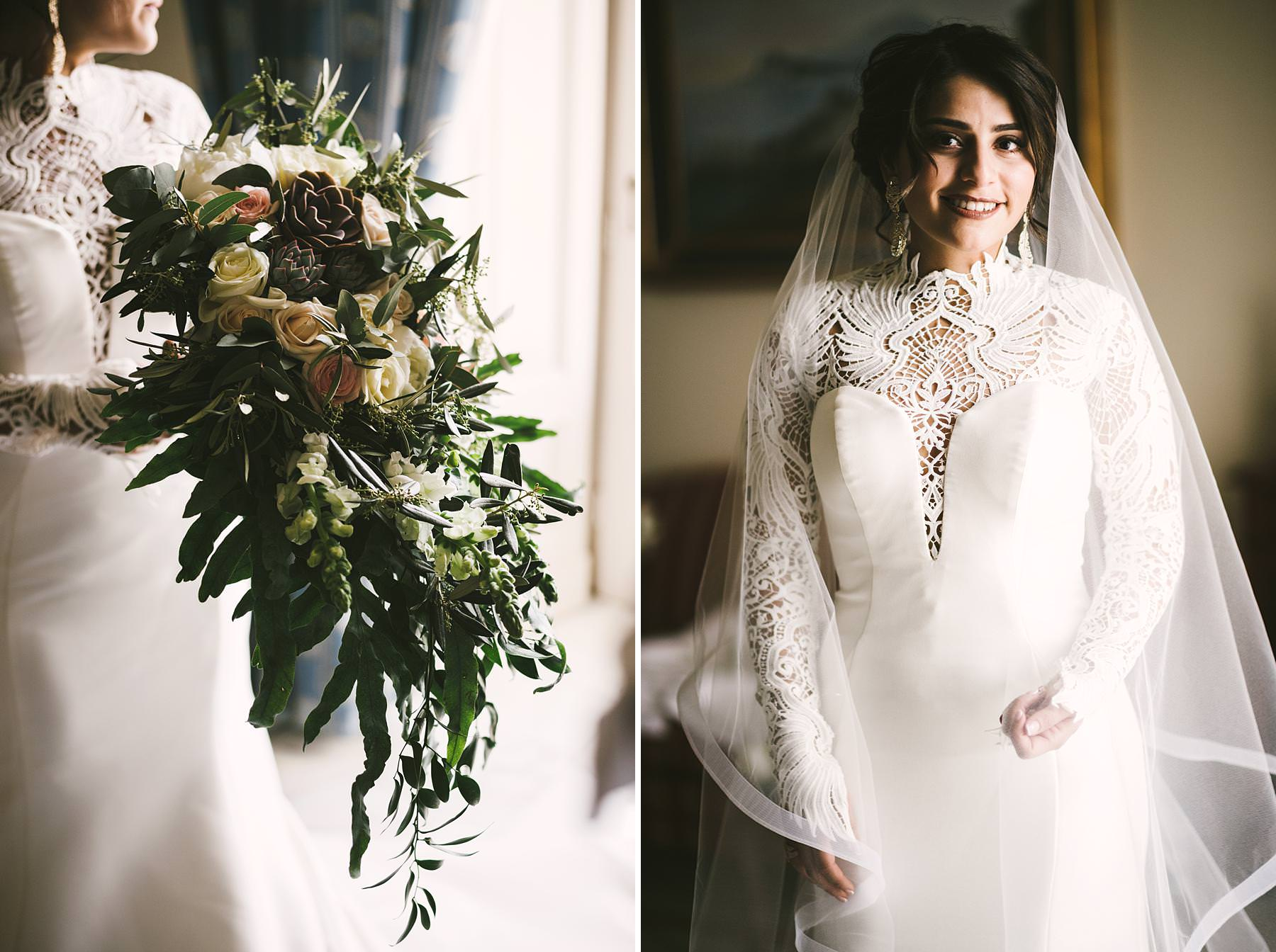 Elegant and beautiful bride Steffany in her Bellissima Bridal Designs wedding gown