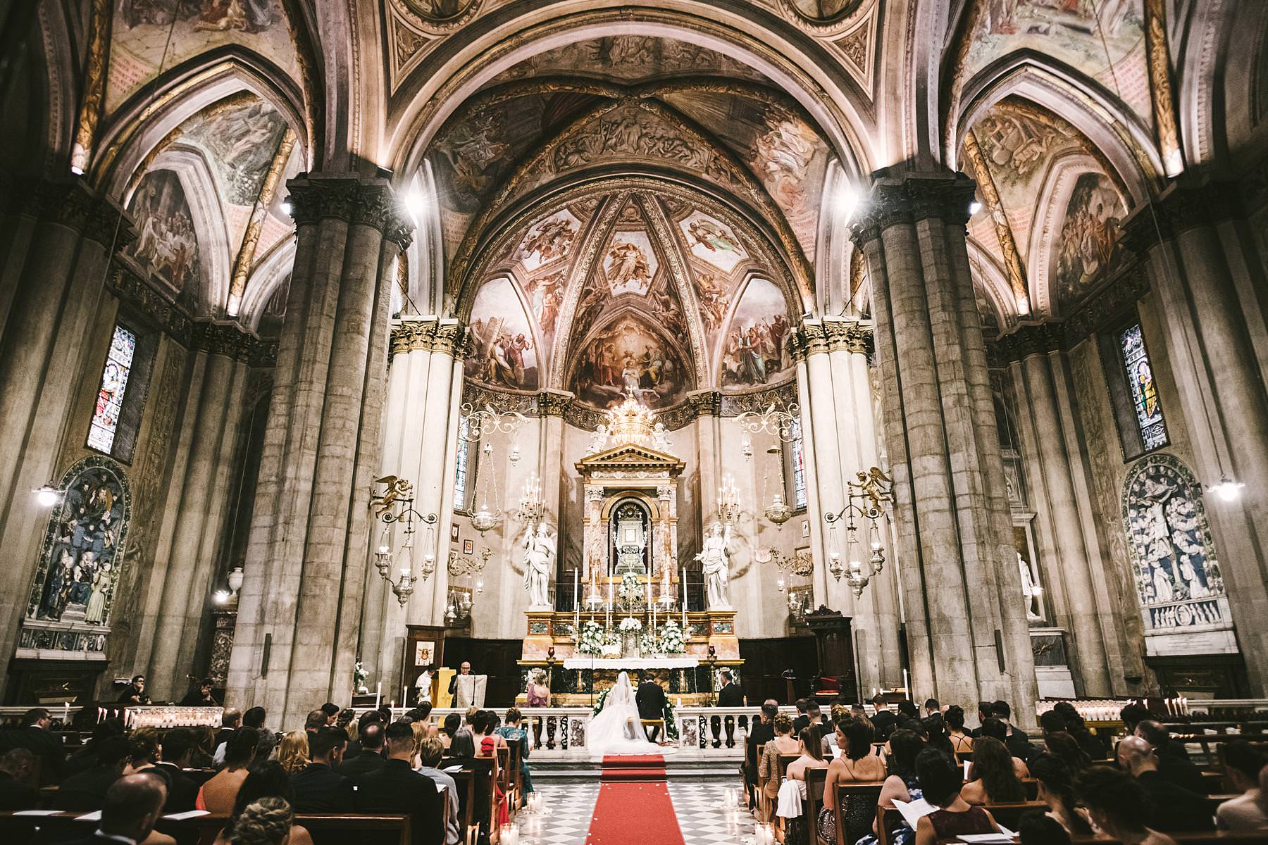 Gorgeous cathedral of Arezzo for an elegant destination wedding with reception at Valenzano Castle in Tuscany