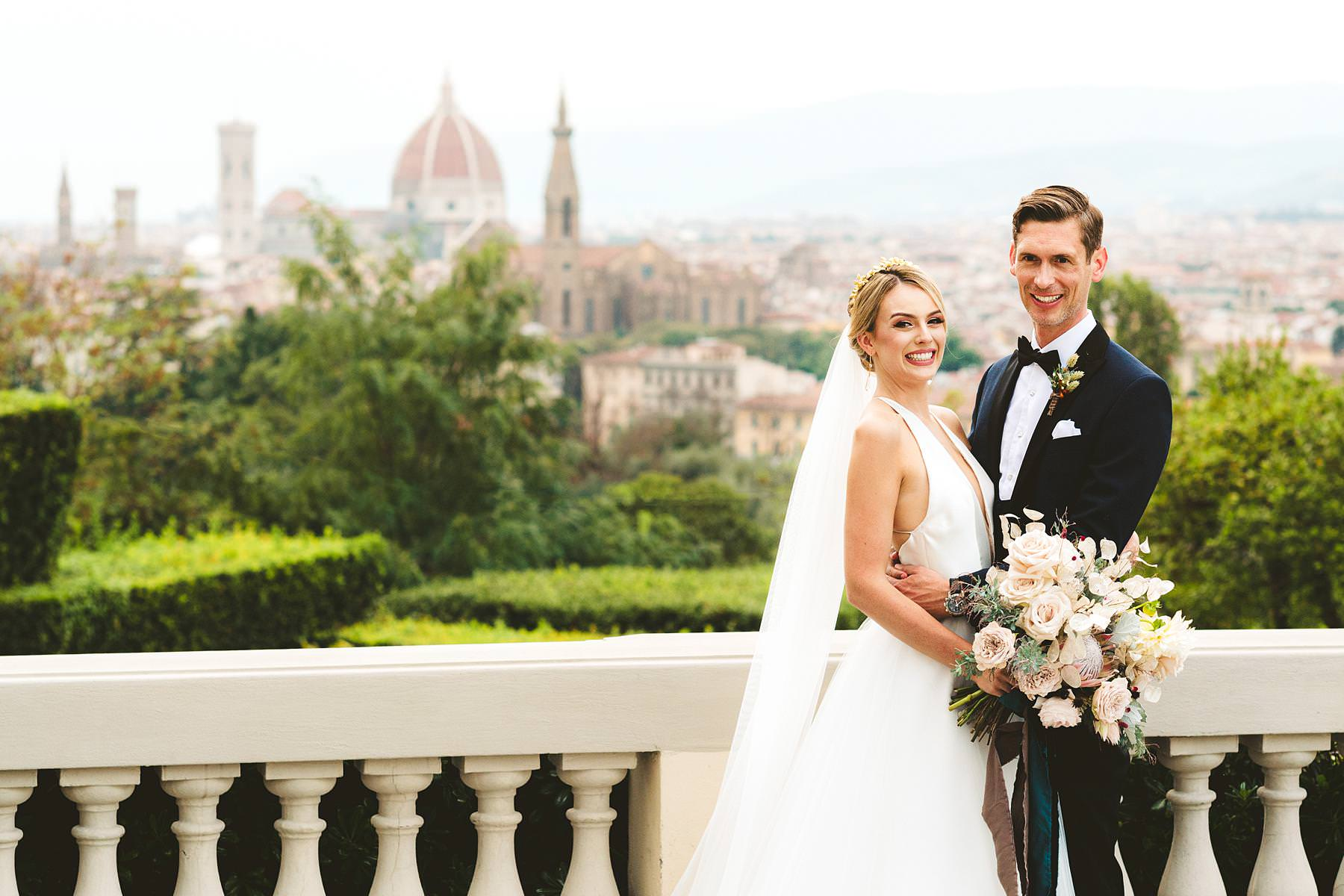 Christina and Cheyne's intimate, luxury wedding at the romantic Renaissance Villa La Vedetta, Florence. Fall in love with the view