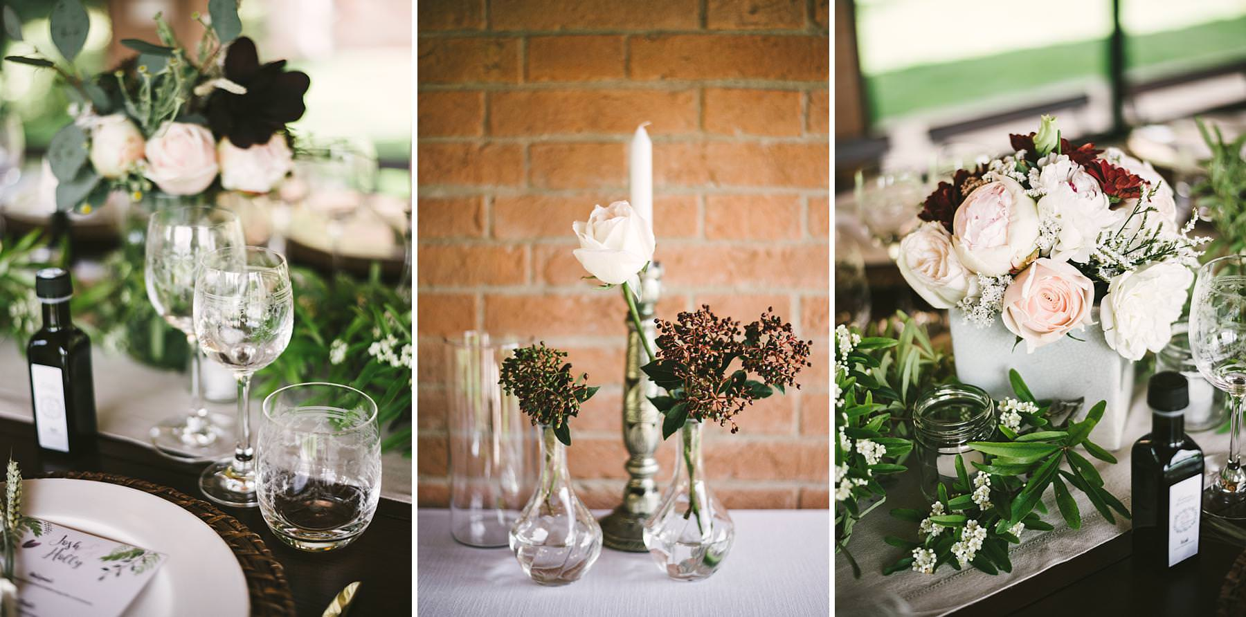 Elegant intimate and beautiful wedding dinner decor at historic venue of Villa l'Antica Posta