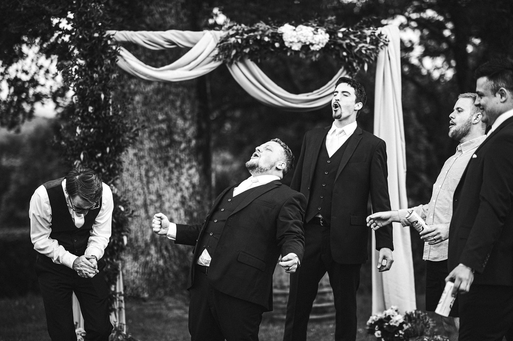 Candid from shoot with mens at Villa Le Bolli during an intimate destination wedding in Tuscany countryside