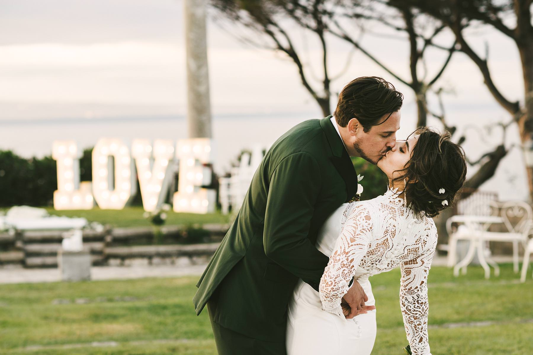 Emotional and intimate wedding photo for a destination wedding in Sorrento at Villa Angelina