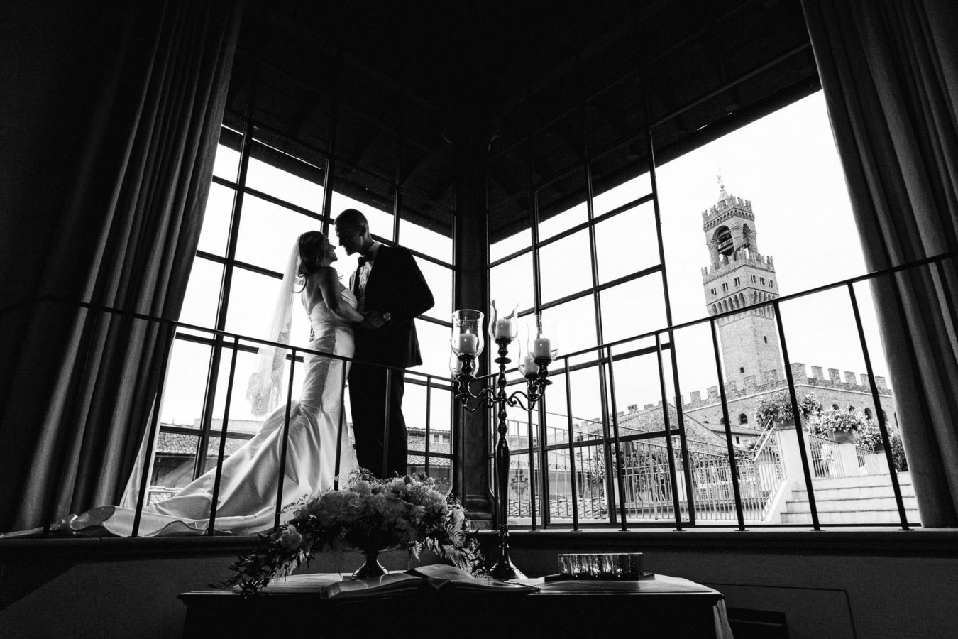 Unforgettable exclusive intimate destination wedding in Florence at Gondi Palace
