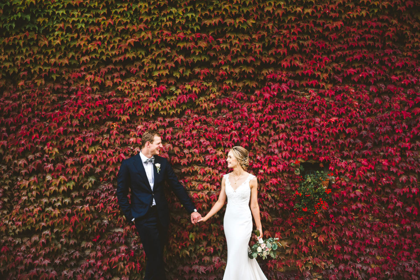 Lovely bride and groom creative and modern wedding portrait at Villa Monte Solare Umbria destination wedding