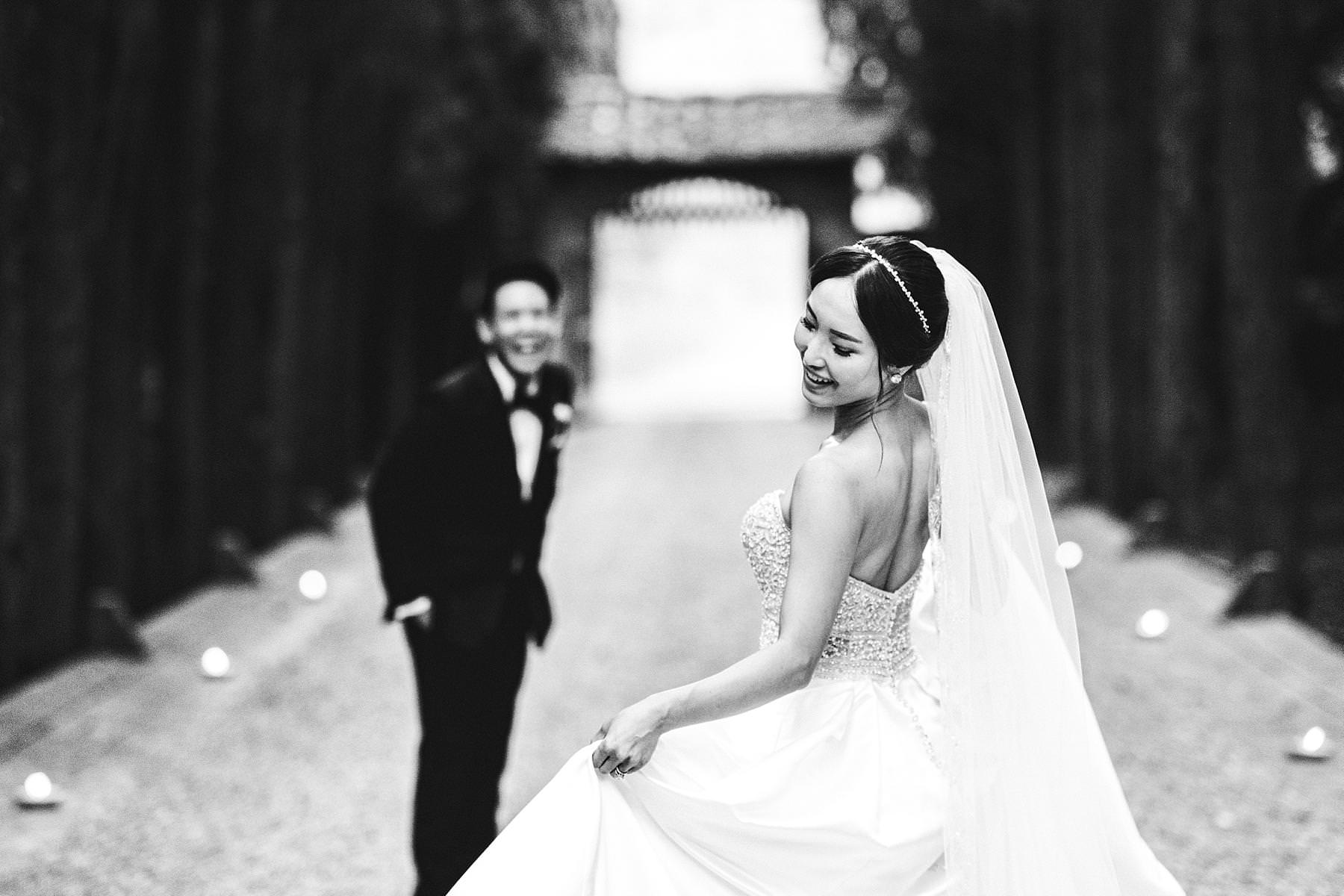 Exciting portrait session during destination castle wedding at Castello Il Palagio in Chianti, Tuscany