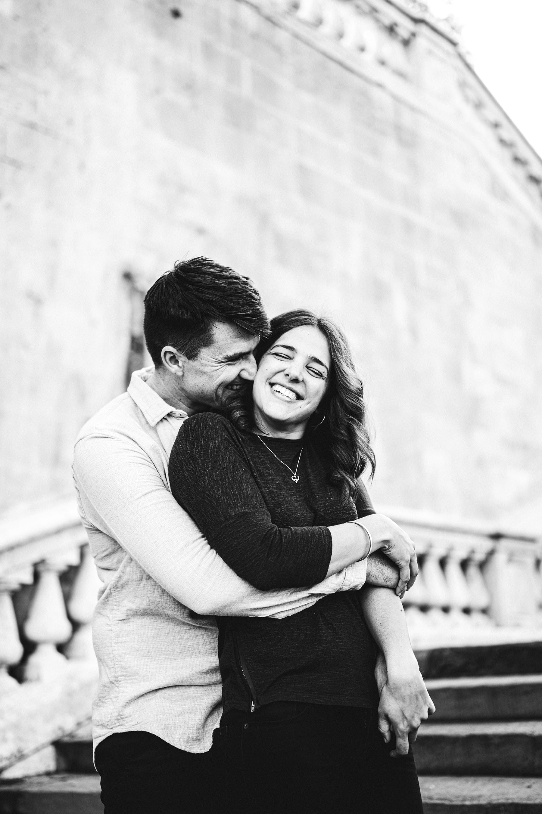 Claudia and Andrew's romantic engagement photos in Florence. Exciting and romantic spontaneous and dreamy photographs filled with love and set among the architectural masterpieces of the city