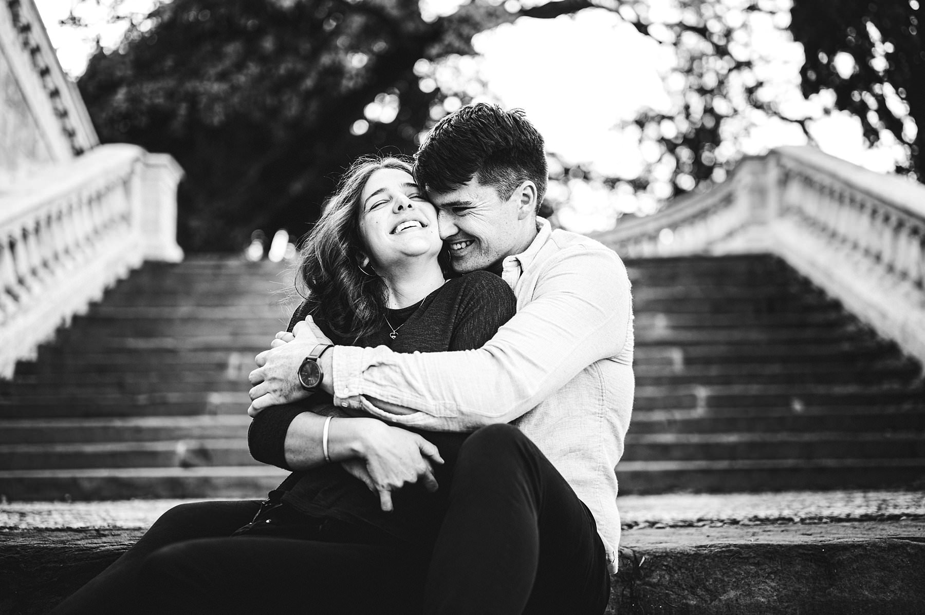 Emotional engagement photo by a lovely Australian couple during an holiday in Florence at Christmas time. I really love these two people who felt free to to express their love to another with hugs, kisses and heartfelt smiles