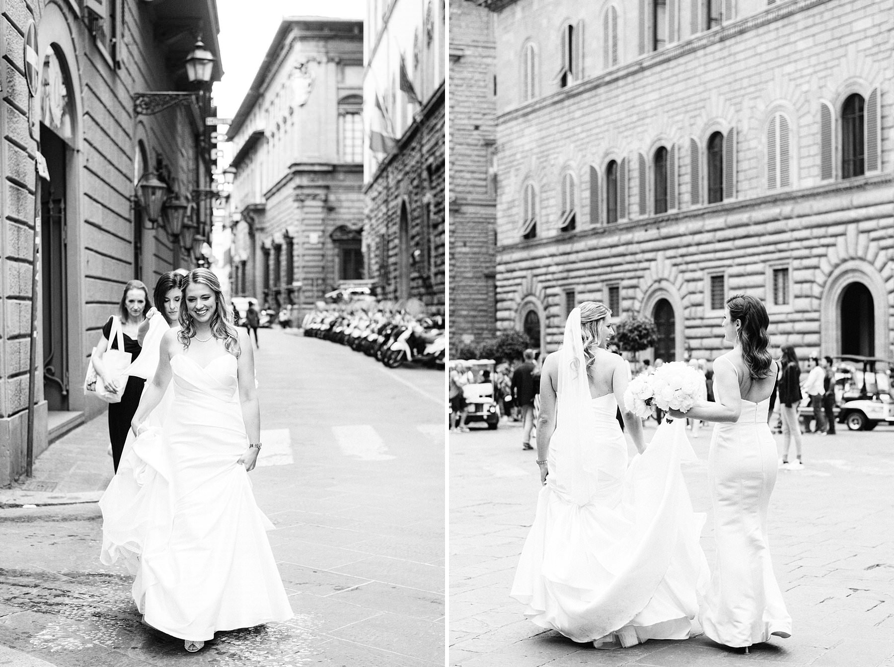 Intimate exquisite wedding in the heart of Florence, Italy. This beautiful American bride opted for the most elegant and exclusive venues for their exquisite wedding: Grand Hotel Cavour, where they got ready, and Palazzo Gondi