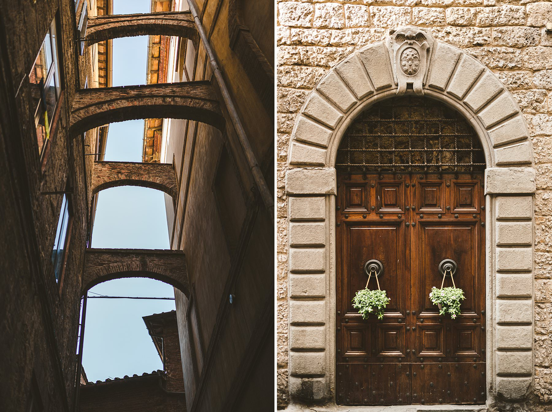 Siena town in Tuscany is a perfect location to get married with historical streets and ideal places to get photos