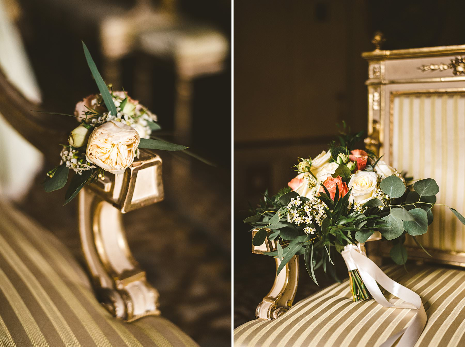 Lovely flowers for an intimate destination wedding elopement in Italy at Siena
