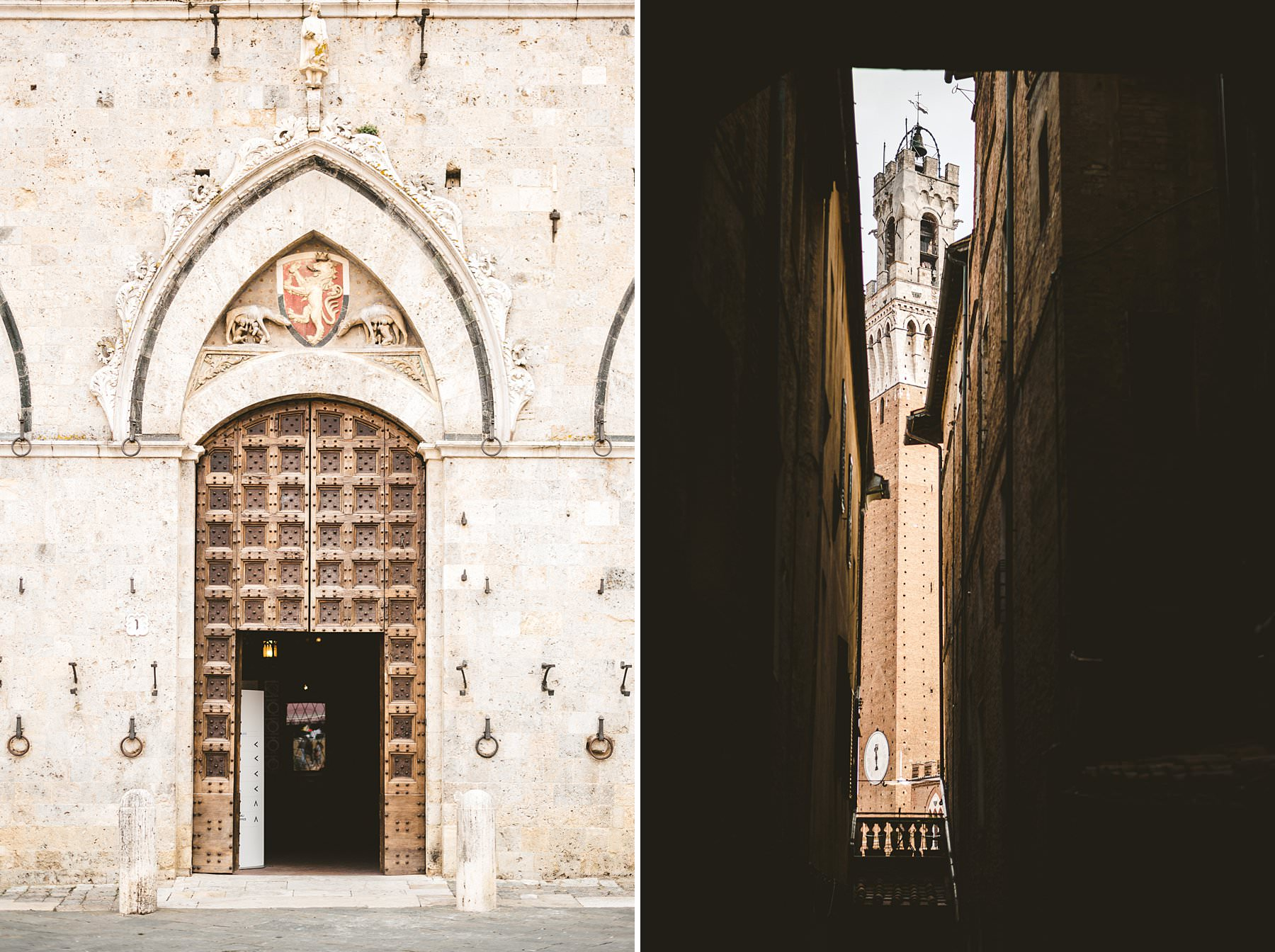 Getting married in Italy, surrounded by beauty. Town Hall of Siena one of the most iconic place in Tuscany. A perfect venue to get married in Italy