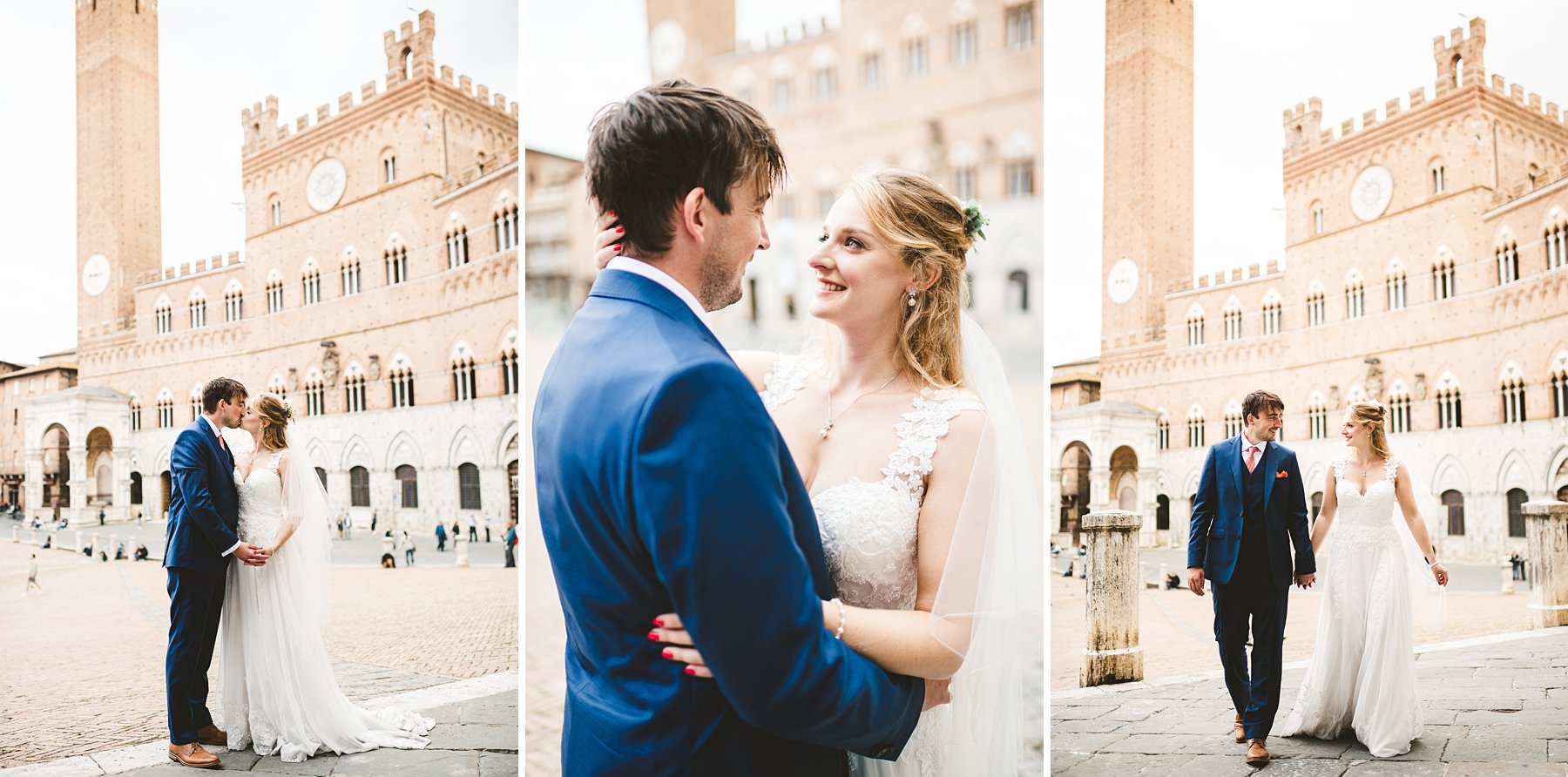 Getting married in Italy at the times of coronavirus is still possible. Poppy and Chris, an incredibly nice couple from the UK share their love in the most iconic place of Siena, Tuscany!