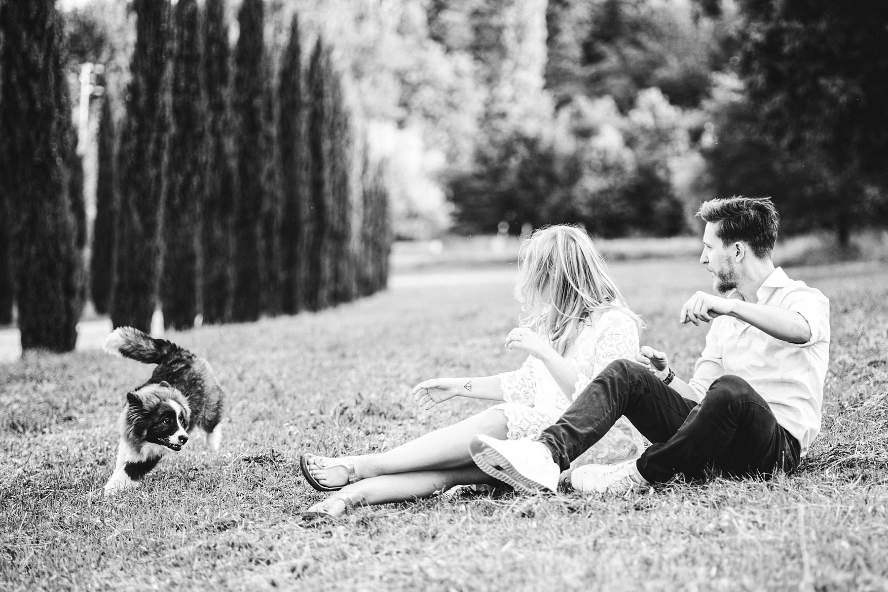 Photo shoot at Poggio Tre Lune with a lovely dog and a special couple coming from Berlin, Germany